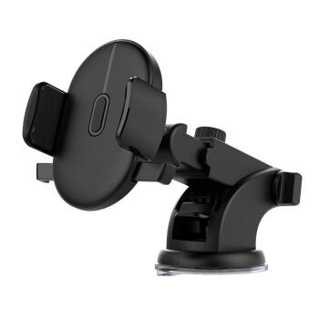 車載用携帯ホルダ長棒伸縮式自動車ダッシュボード吸盤式ラック新品円形円弧モデル黒