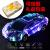 カラーの小型車モデルブルートゥースオーディオ七色ライトスピーカーミニランボルギーニスポーツカーの低音砲赤【8 Gカード+長安卓線を送る】内蔵電池で充電できる標準装備
