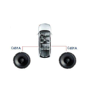 漫步者カー・ステレオ改装6.5寸套装喇叭同轴低音炮四路功放全国安装覆盖 A.フロントドアセット+裏門同軸6喇叭 C651A裏門同軸喇叭配专用垫圈